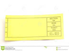 Empty Ticket Template by Blank Ticket Stock Image Image 1251431