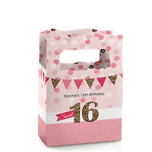 Sweet Sixteen Birthday Favors by Sweet 16 Personalized Birthday Mini Favor Boxes