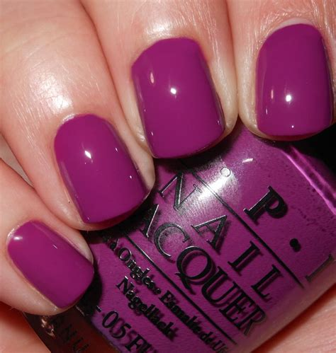 opi purple colors imperfectly painted throwback thursday opi plona purple