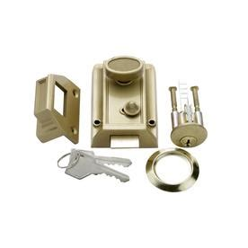 single cylinder interlocking deadbolt