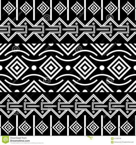 tribal pattern black tribal seamless pattern ethnic vector background stock