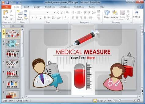 ppt templates free download blood medical powerpoint template toolkit