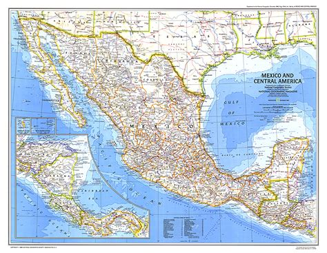map of mexico central america mexico and central america map