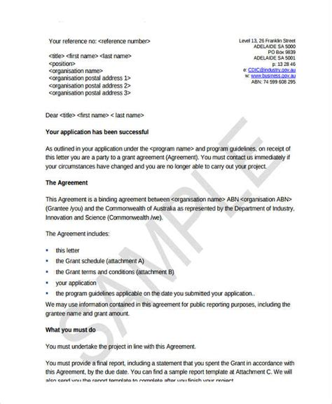 grant agreement template 20 grant agreement letter pictures complete