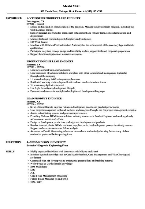 product engineer resume resume ideas