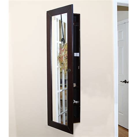 jewelry armoire wall mirror pebble beach wall mount jewelry armoire espresso w