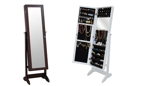 Groupon Jewellery Cabinet by Mirror And Jewelry Cabinet Groupon Goods