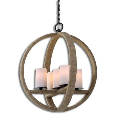 Rope Light Fixture Uttermost Gironico 5 Light Metal Glass Rope Lighting Fixture Pendant Overstock Shopping