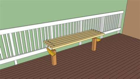 deck bench seat deck bench plans free howtospecialist how to build