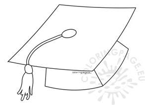 Graduation Templates by Printable Graduation Hat Template Coloring Page