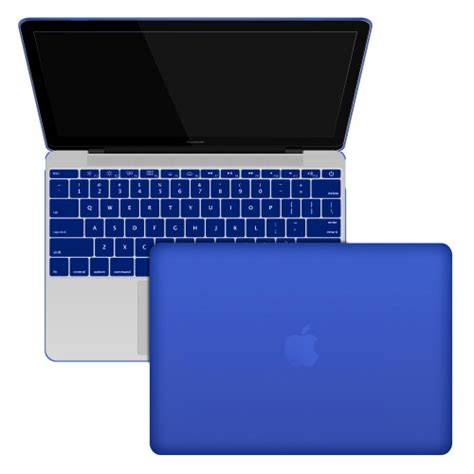 Macbook Retina 12 Leather Hardcase Sky Blue rubberized shell with keyboard cover for macbook 12 quot retina a1534 royal blue