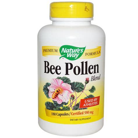 Vitamin Honey Bee Pollen Nature S Way Bee Pollen Blend 580 Mg 180 Capsules