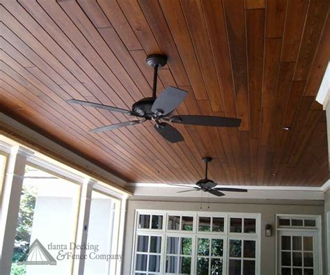 Stained Porch Ceiling or instead of painting stain the wood ceiling on the porch stained t pine ceiling
