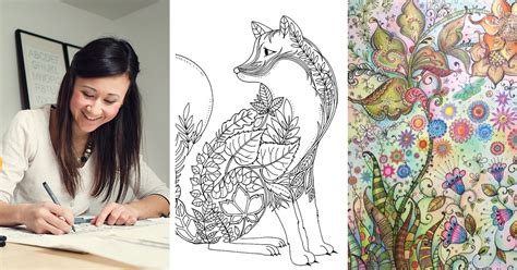 colouring book for adults johanna basford artist creates coloring books and sells more than a