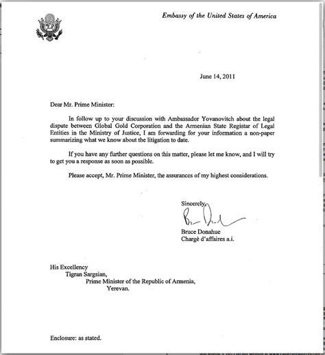 Embassy Letter From Employer global gold corp gbgd extortion and fraud in armenia