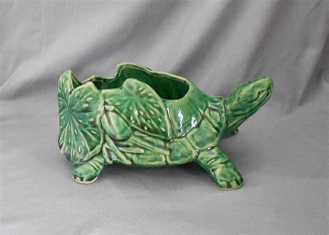 Mccoy Turtle Planter by 1950s Mccoy Usa Pottery Turtle Planter In Pottery Usa