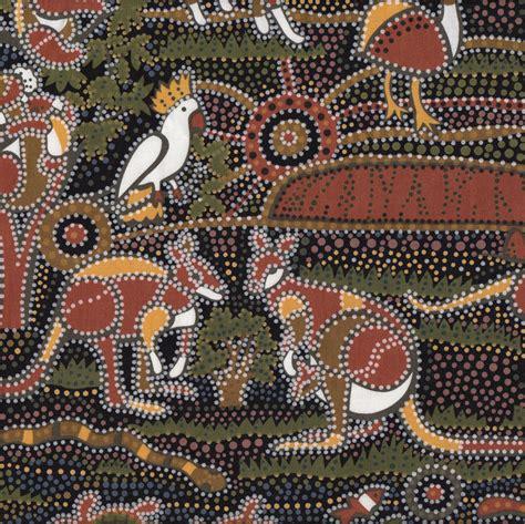 Quilt Fabric Finder by Australian Aboriginal Dreamtime Koala Kangaroo Quilt
