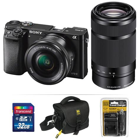 Sony Mirrorless A6000 Kit 16 50mm sony alpha a6000 mirrorless digital kit ilce6000l bkit