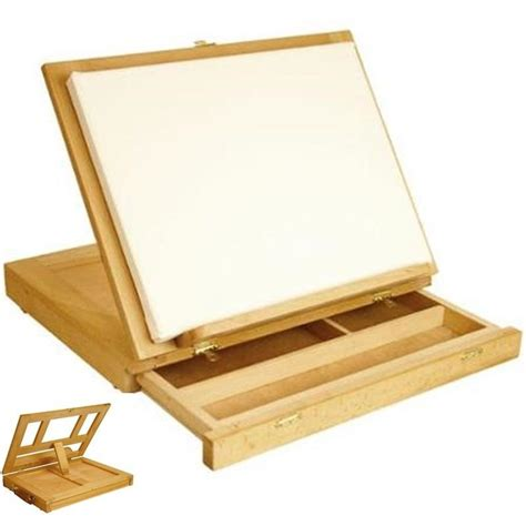 wooden art desk artist desk wood drawer table art miniature easel painting