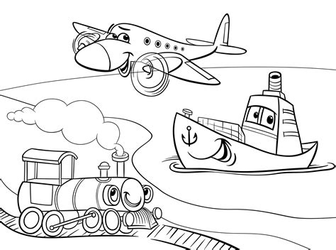 transportation coloring pages coloringsuite com