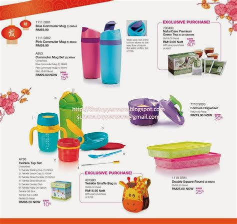 Promo Tupperware Tumbler 4pcs Gelas Mug tupperware brands malaysia catalogue collection business opportunity january 2014