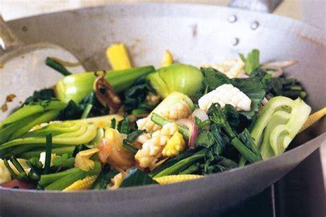 ginger stir fried calamari salad gourmet garden calamari and asian green stir fry recipe taste com au