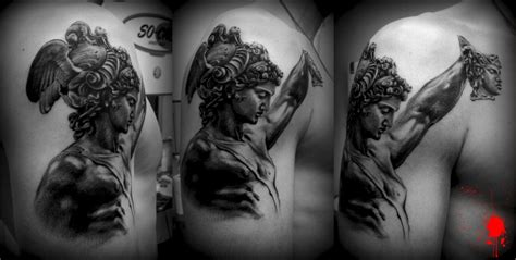 perseus tattoo perseus with medusa s done by juanjo martinez