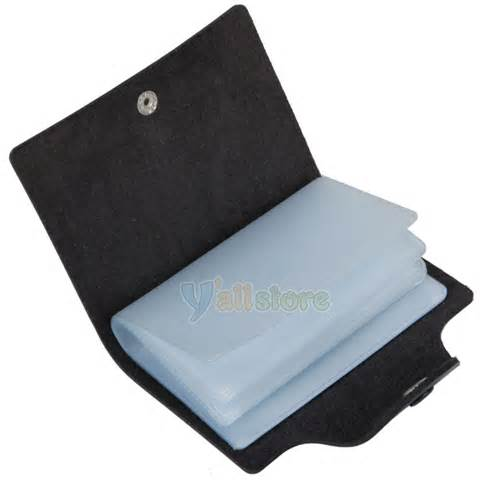Credit Card Sleeve Template Simple Pocket Pu Leather Credit Card Holder Storage Bag Black Ebay