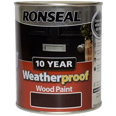 ronseal exterior wood paint ronseal 10 year weatherproof exterior wood paint 750ml