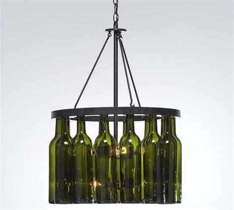 Wine Bottle Chandelier Pink Apples Wine Bottle Chandelier