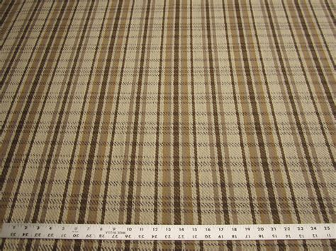 Western Upholstery Fabric by Western Plaid Earth Tones Jacquard Upholstery Fabric