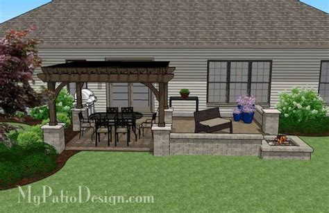 paver patio designs with pit large rectangular paver patio design with pit