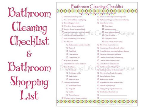 printable home organization lists home organization checklist pdf printable basic