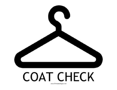 coat check template printable coat check with caption sign