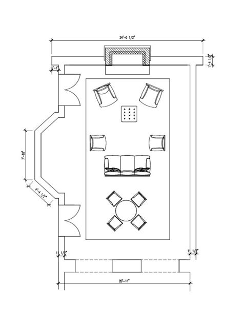 Living Room Floor Plan Drawing Space Planning And Room Design