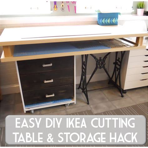 sewing cutting table ikea sew at home mummy diy fabric cutting and craft table