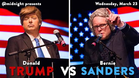donald trump comedy comedy central s midnight stages trump vs sanders