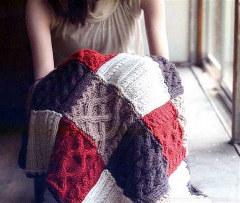 Knitted Patchwork Throw Pattern - fabulous knit throw patterns adding warm texture to modern