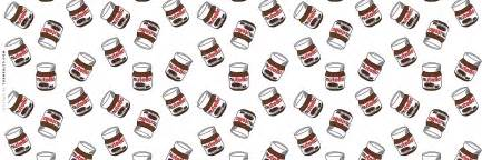 floating nutella jars fm background food wallpapers