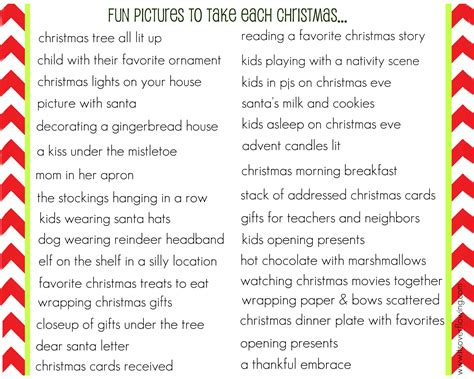 ideas for christmas list or by 8x10 list of pictures to