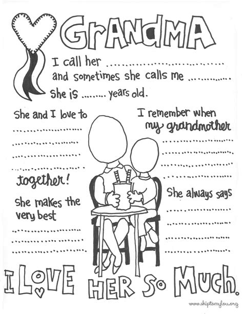 printable coloring pages for grandma grandma coloring page skip to my lou