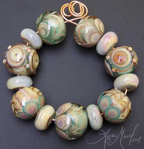 grace lwork bead set glass by lydia muell