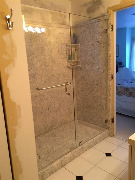 Towel Bars For Shower Doors Framless Door And Panel With Towel Bar Handle Combo Shower Glass Doors Pinterest Best
