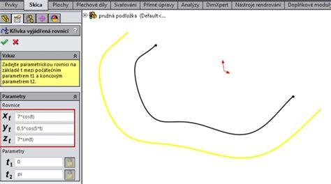 solidworks tutorial yt využijte křivky ř 237 zen 233 rovnic 237 při navrhov 225 n 237 pružn 233