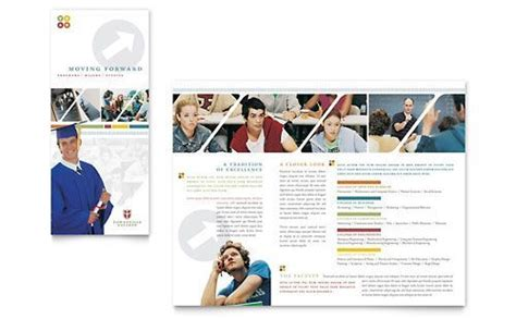 Themes For College Brochures   college university brochure template by stocklayouts