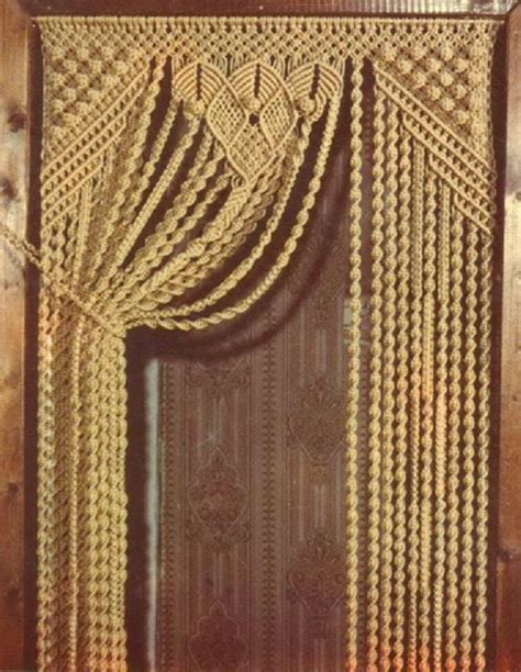 Hemp Curtain Panels From Doc by Curtains Bags In Macrame Technique By Embroideryuniverse