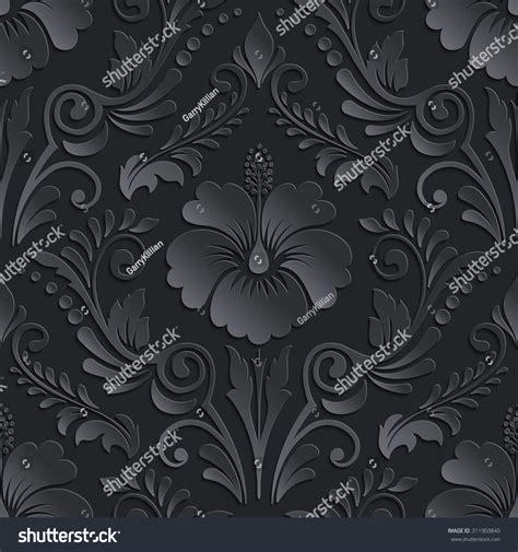 vector damask seamless pattern element vector dark damask seamless pattern element elegant
