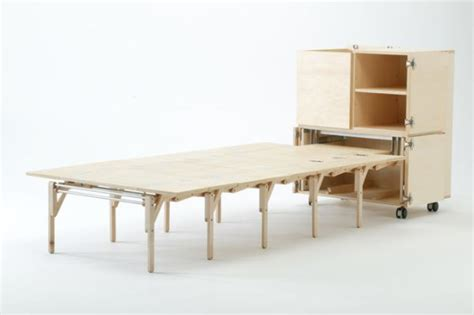 Mobile Dining Unit That Reveals A Surprisingly Large Mobile Dining Table