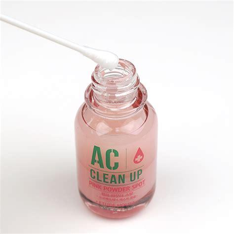 Etude Pink Powder Spot etude house ac clean up pink powder spot set review