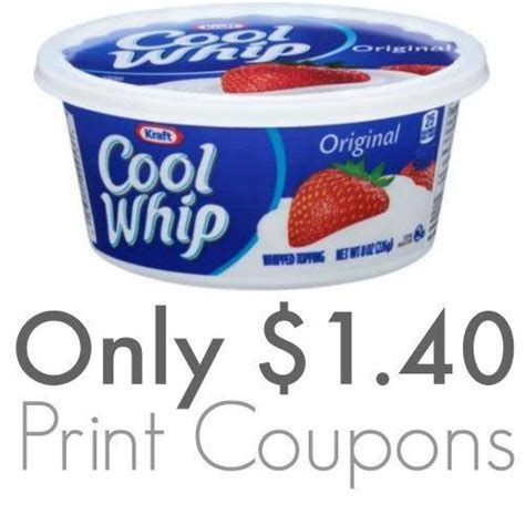 cool whip coupons printable cool whip coupons 1 40 at walmart